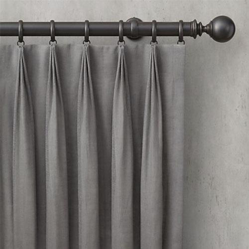 Confecció de cortines de triple plec modernes i actuals