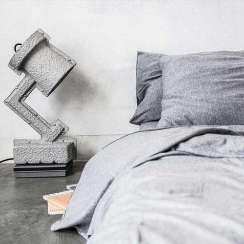 Funda nòrdica Mikmax Calella de color gris de cotó de samarreta