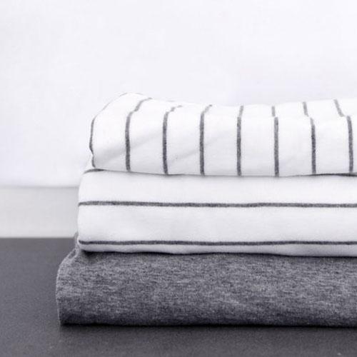 Funda nòrdica Mikmax Llançà blanca amb ratlles grises de cotó 100%