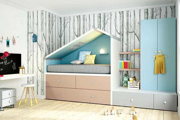 Habitació per a nens de la marca catalana Lagrama