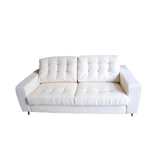 Sofá capitoné con patas de madera, somos un taller de tapicería y hacemos los sofás a medida