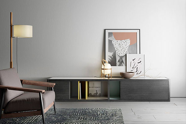 Mobles per la televisió de fusta de la casa Treku