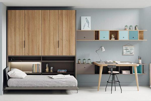 Habitació amb llit abatible o plegable en vàries mides i colors