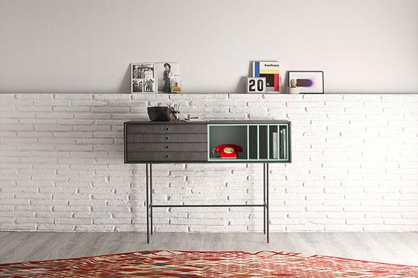 Mobles auxiliars per a rebedors o menjadors moderns, es poden triar vàris colors de fusta i també lacats.
