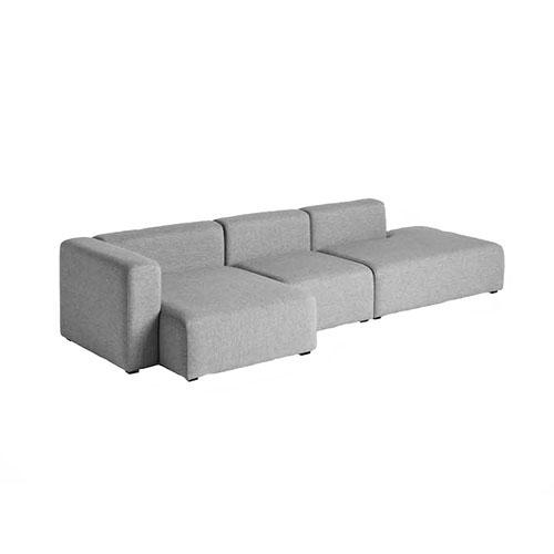 Sofá fabricado con módulos intercambiables tipo soft en color gris modelo hay