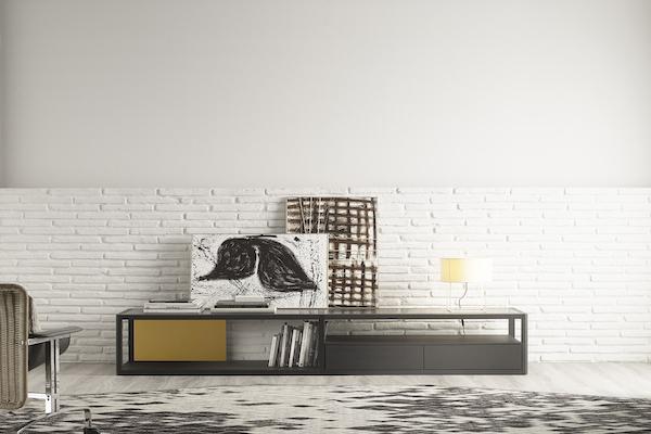 Mueble de televisión de roble de la marca TREKU a Reus, Mobles perpinyà.