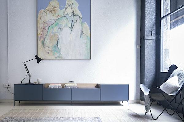 Mueble para televisión de estilo nórdico de la marca TREKU a Reus, Tarragona.