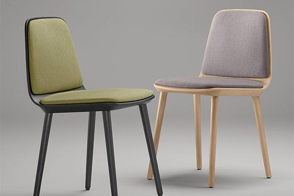 Sillas de la colección Bisell elegantes y sencillas de la marca TREKU.a Reus, Mobles Perpinyà.